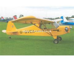 £4000 G-bvea Single Seater Piper J3 Cub Look-alike